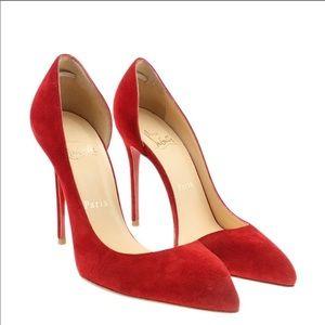 Louboutin 38 Iriza Suede pumps d'orsay heels